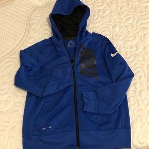 Boys Nike zip up hooded sweatshirt